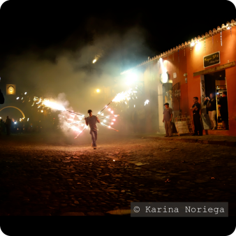 An incredible New Years spectacle in Antigua. Most events like these are free to public -- Guatemala -- Karina Noriega